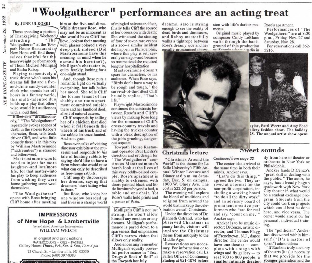 """Woolgatherer"" performances are an acting treat"