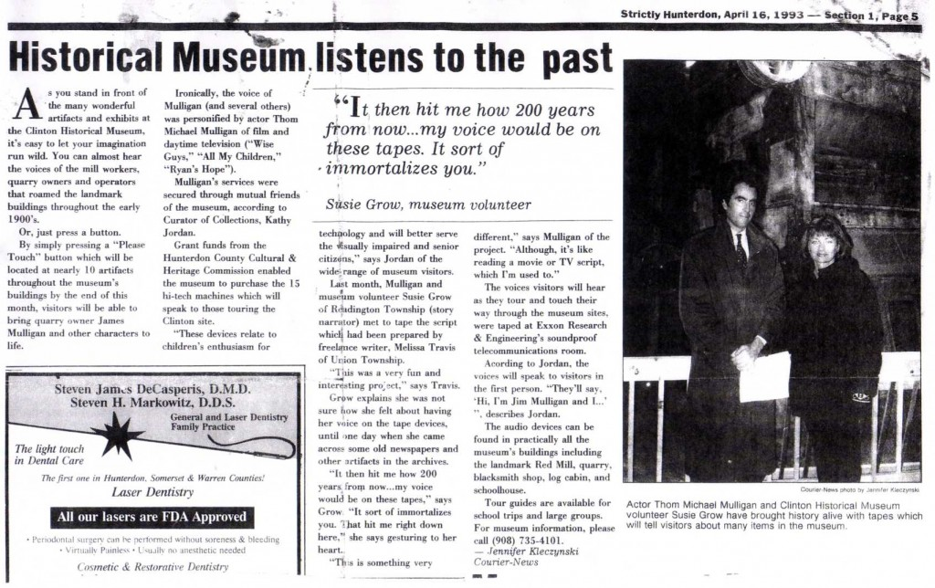 Historical Museum listens to the past - article
